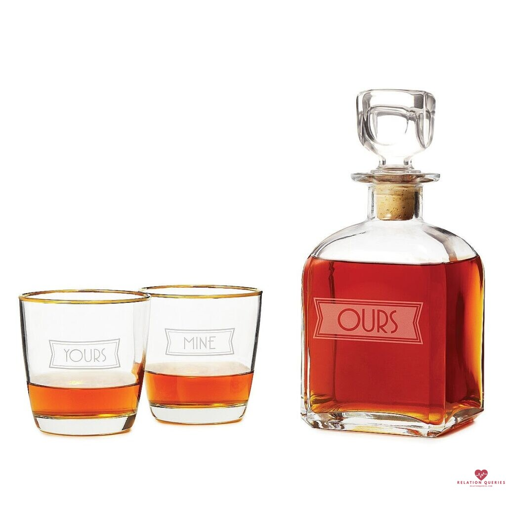 6-Month-Anniversary-Gifts-For-Him-Yours-Mine-and-Ours-Engraved-Decanter-Set