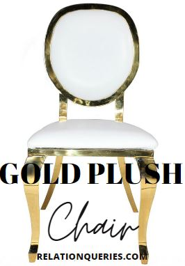 Gold Plush Chair Rentals For Weddings
